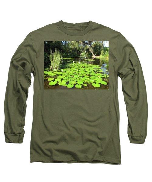 Lilies Of Bok Gardens Long Sleeve T-Shirt