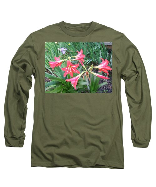 Long Sleeve T-Shirt featuring the photograph Lillies by Cathy Harper