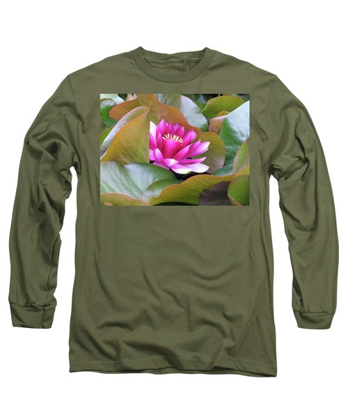 Lilly In Bloom Long Sleeve T-Shirt by Wendy McKennon