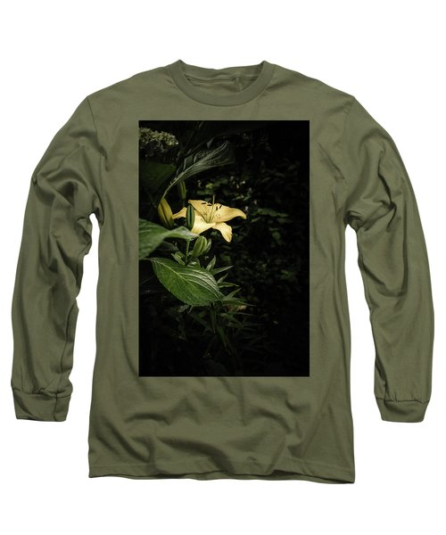 Long Sleeve T-Shirt featuring the photograph Lily In The Garden Of Shadows by Marco Oliveira