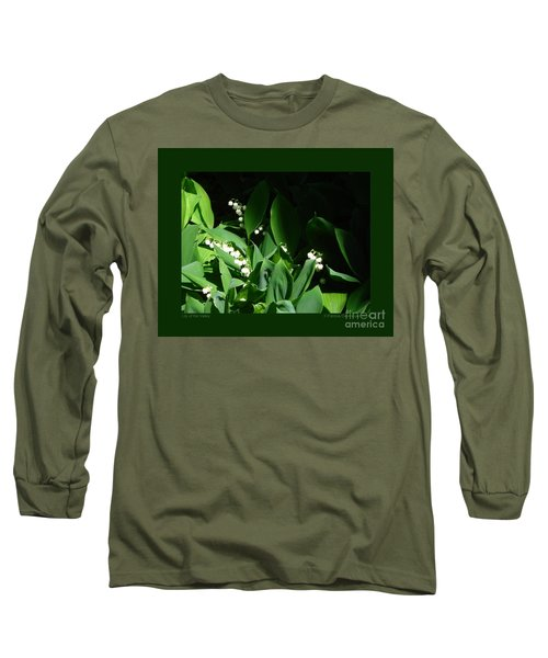 Lily Of The Valley Long Sleeve T-Shirt by Patricia Overmoyer