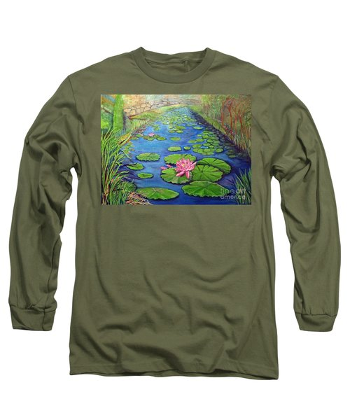 Water Lily Canal Long Sleeve T-Shirt