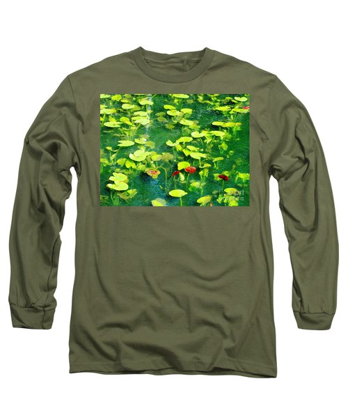 Long Sleeve T-Shirt featuring the photograph Lily Pads by Melissa Stoudt