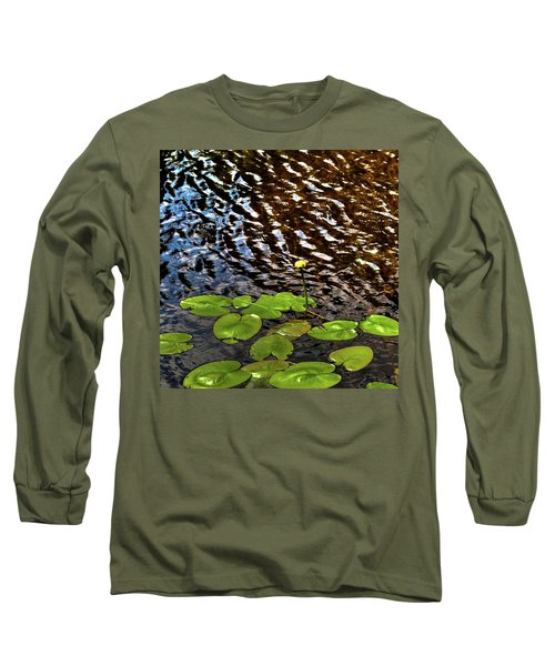 Long Sleeve T-Shirt featuring the photograph Lily Pads On First Lake by David Patterson
