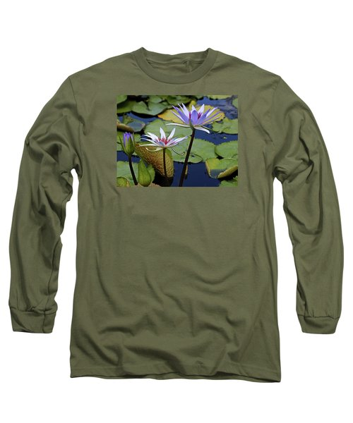 Long Sleeve T-Shirt featuring the photograph Lily Trio by Judy Vincent