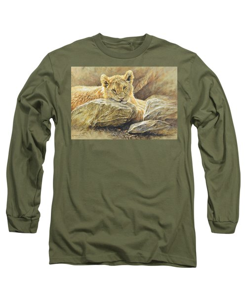 Lion Cub Study Long Sleeve T-Shirt