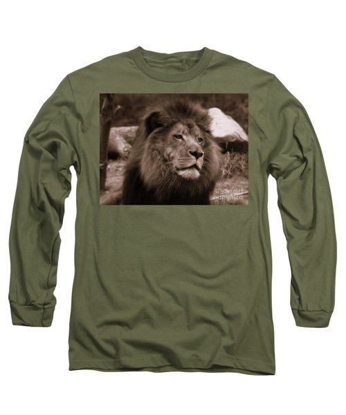 Long Sleeve T-Shirt featuring the photograph Lion King by Lisa L Silva
