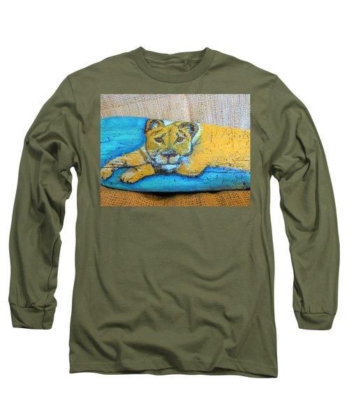 Lioness Long Sleeve T-Shirt by Ann Michelle Swadener