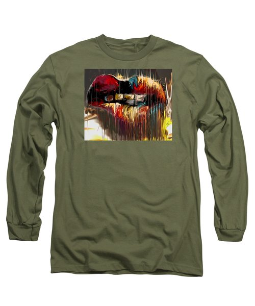 Lips Say It All Long Sleeve T-Shirt by Darren Cannell