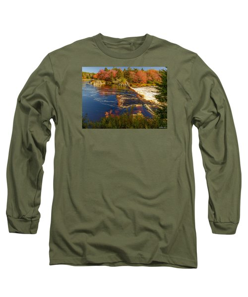 Liscombe Falls Long Sleeve T-Shirt by Ken Morris