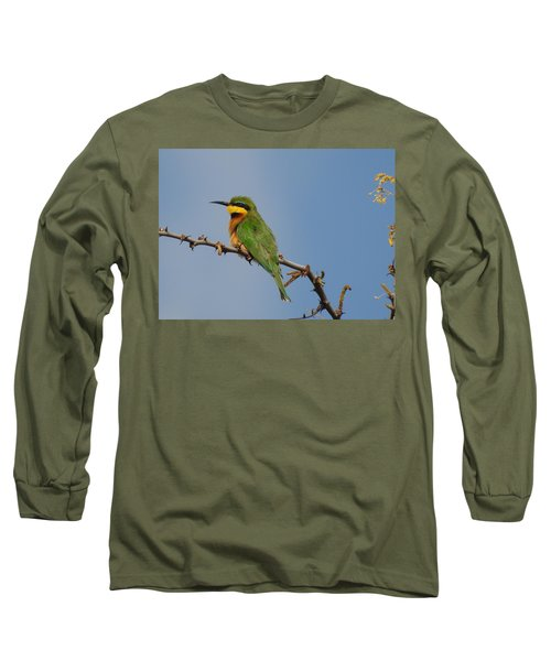 Long Sleeve T-Shirt featuring the photograph Little Bee-eater by Betty-Anne McDonald