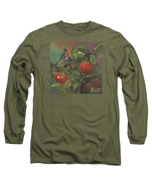 Little Bird In The Apple Tree Long Sleeve T-Shirt