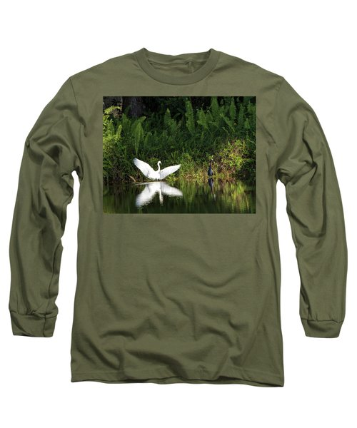 Little Blue Heron Non-impressed Long Sleeve T-Shirt