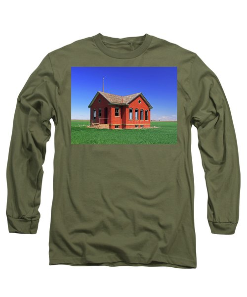 Little Brick School House Long Sleeve T-Shirt by Christopher McKenzie