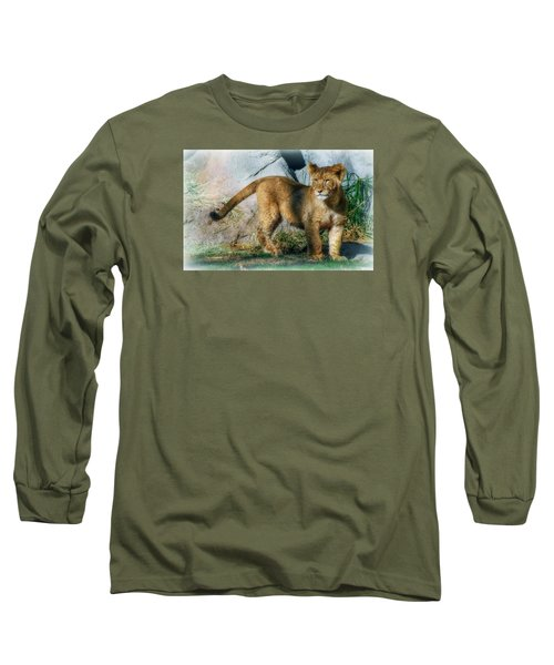 Long Sleeve T-Shirt featuring the photograph Little Cub by Elaine Malott