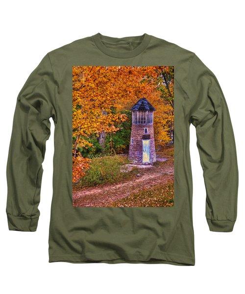 Long Sleeve T-Shirt featuring the photograph Little Falls Autumn Lighthouse by Trey Foerster