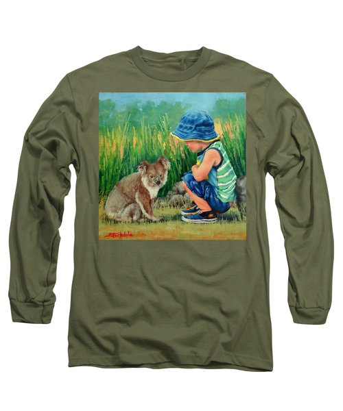 Long Sleeve T-Shirt featuring the painting Little Friends by Margaret Stockdale