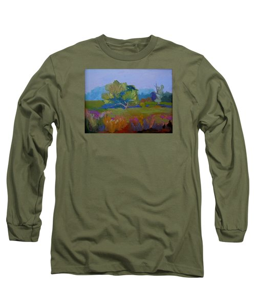 Long Sleeve T-Shirt featuring the painting Little Miami Meadow by Francine Frank