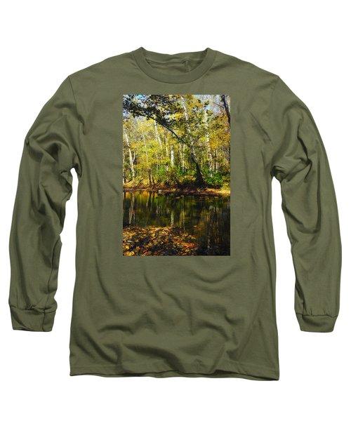 Long Sleeve T-Shirt featuring the photograph Little Miami River by Beth Akerman