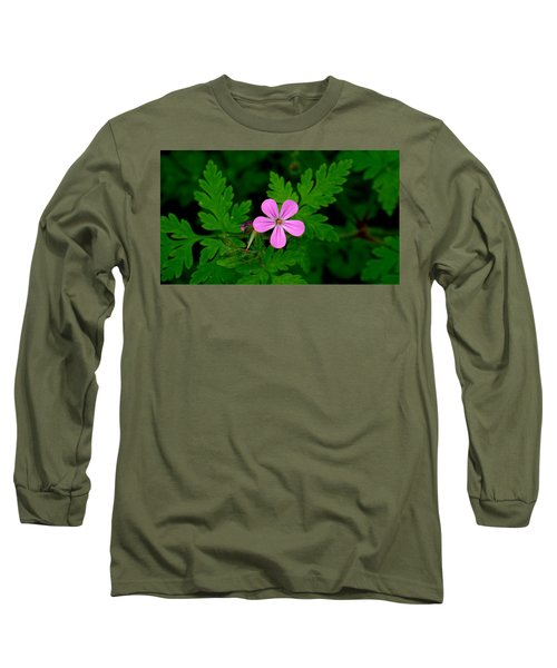 Little Purple Flower Long Sleeve T-Shirt by Karen Molenaar Terrell