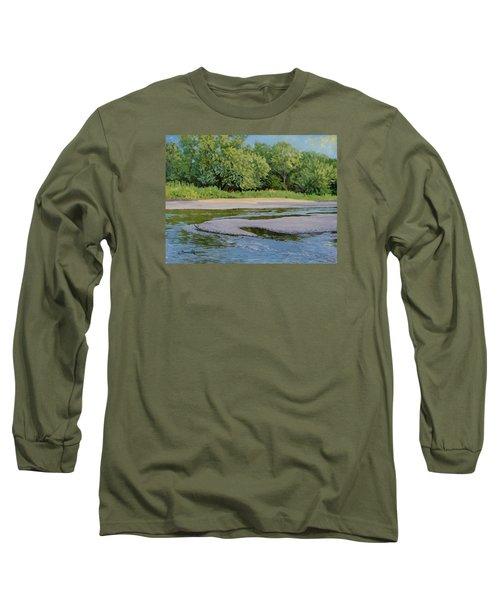Little Sioux Sandbar Long Sleeve T-Shirt by Bruce Morrison