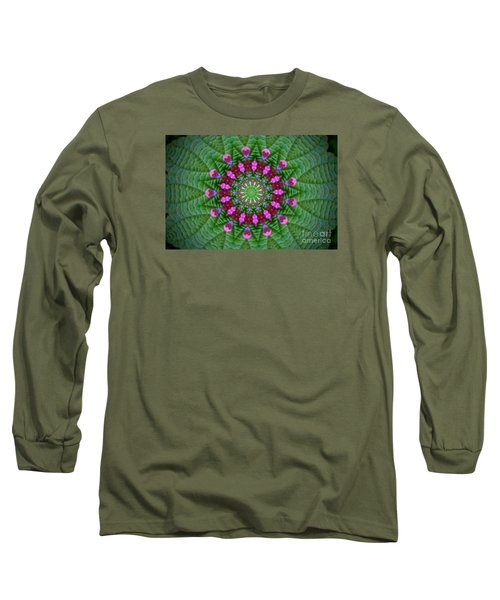 Long Sleeve T-Shirt featuring the photograph Little Weed Kaliedoscope by Shirley Moravec