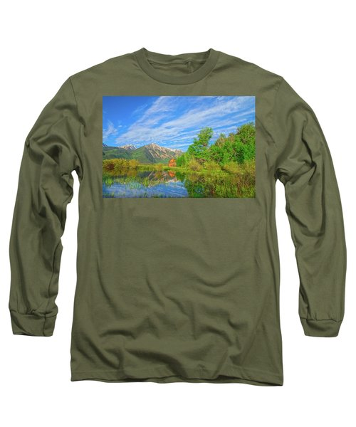Live As Though You Will Die Tomorrow. Learn As Though You Will Live Forever.  Long Sleeve T-Shirt