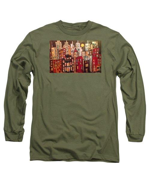 Lively City Skyline Long Sleeve T-Shirt by Roxy Rich
