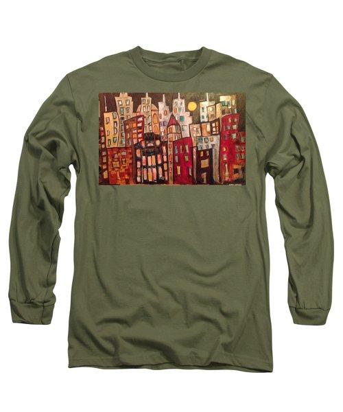 Lively City Skyline Long Sleeve T-Shirt