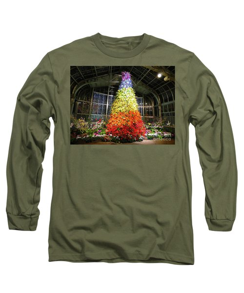 Living Color Christmas Tree Long Sleeve T-Shirt