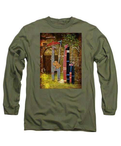Llamas Say Goodbye Long Sleeve T-Shirt by Bellesouth Studio