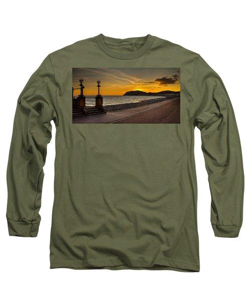 Llandudno Promenade And Little Orme Long Sleeve T-Shirt
