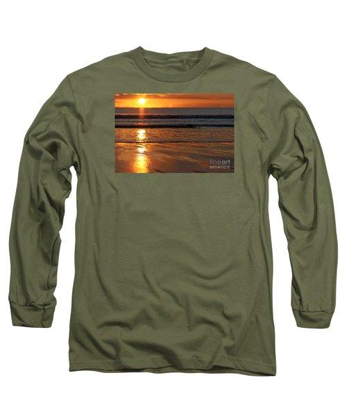 Llangennith Beach Sand Textures Long Sleeve T-Shirt