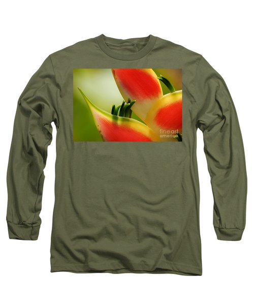 Lobster Claw Flower Long Sleeve T-Shirt