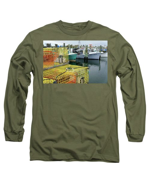 Lobster Traps In Galilee Long Sleeve T-Shirt