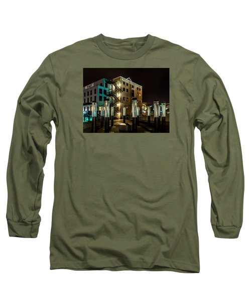 Lofts Overlooking Water Forest Long Sleeve T-Shirt by Rob Green