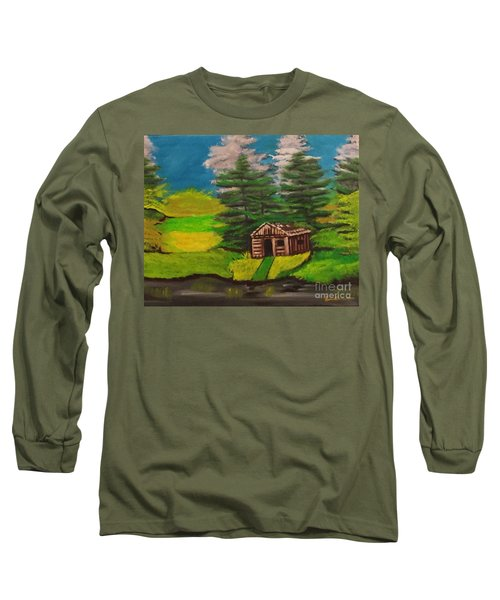 Log Cabin Long Sleeve T-Shirt