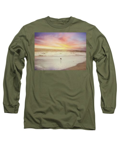 Lone Bird At Sunset Long Sleeve T-Shirt