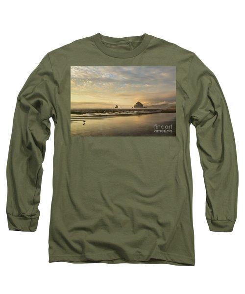Sunset At Haystack Rock Long Sleeve T-Shirt