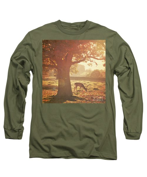 Long Sleeve T-Shirt featuring the photograph Lone Deer by Lyn Randle