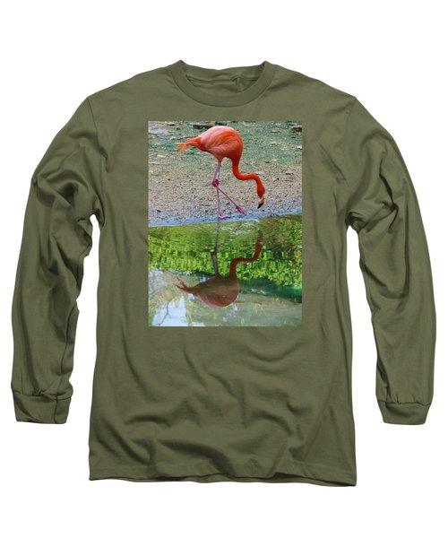 Lone Flamingo Long Sleeve T-Shirt