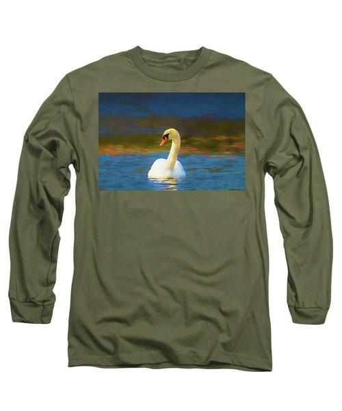 Lone Mute Swan. Long Sleeve T-Shirt