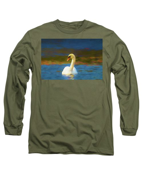 Lone Mute Swan. Long Sleeve T-Shirt