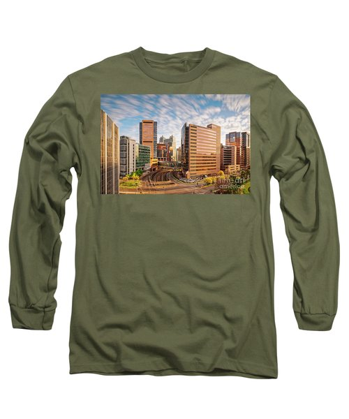 Long Exposure View Of The Texas Medical Center Houston Harris County - Southeast Texas Long Sleeve T-Shirt