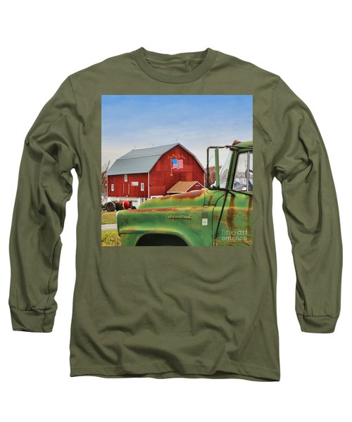 Long Sleeve T-Shirt featuring the photograph Long May She Wave by DJ Florek