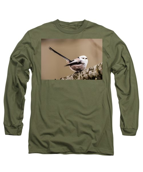 Long Sleeve T-Shirt featuring the photograph Long-tailed Tit Wag The Tail by Torbjorn Swenelius