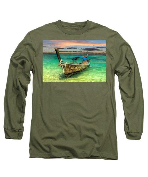 Longboat Sunset Long Sleeve T-Shirt