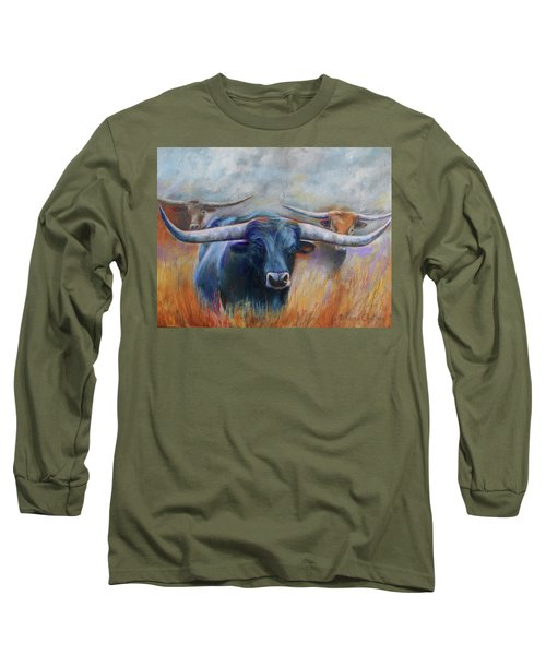 Longhorn Country Long Sleeve T-Shirt by Karen Kennedy Chatham