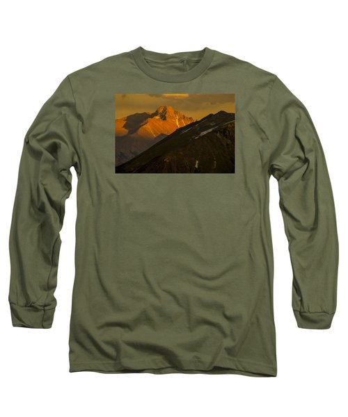 Long Sleeve T-Shirt featuring the photograph Long's Peak by Gary Lengyel