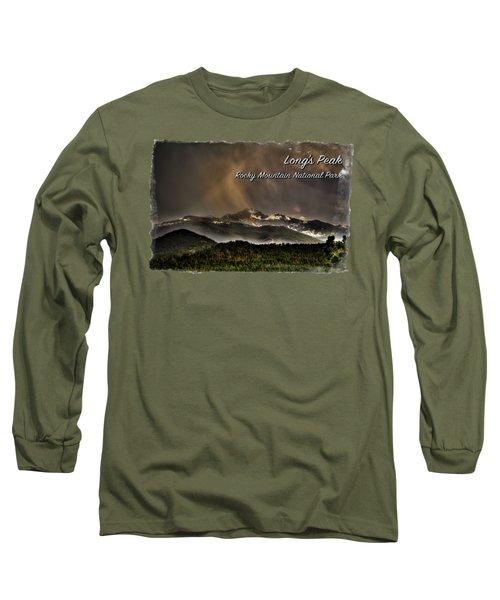Long's Peak In Haze Long Sleeve T-Shirt